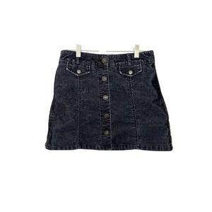 BDG Black Corduroy Mini Skirt 6 Urban Outfitters